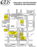 Empire State Plaza Visitor Parking Map Thumbnail